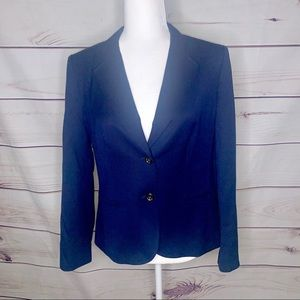 Talbots • Navy wool stretch blazer 8P